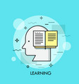 silhouette of human head and opened book concept vector image vector image