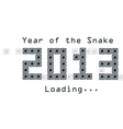 snake year concept vector image vector image