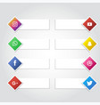 social media icon banner collection background vector image