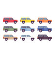 suv offroad set in bright colors vector image vector image