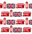 telephone bus flag of london design vector image