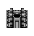tower skyscraper black icon concept tower vector image