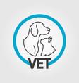 vet logo design vector image