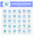 web development icons vector image vector image