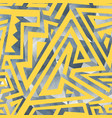 yellow geometric seamless pattern vector image vector image