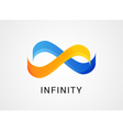 Colorful abstract infinity endless symbol and icon vector image
