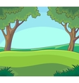 Green landscape with Trees and vector image