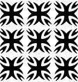 Seamless pattern Monochromatic Black ornament vector image