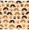 dog and footprint seamless pattern eps10 vector image