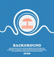 Sandbox icon sign Blue and white abstract vector image