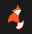 abstract fox symbol icon vector image vector image
