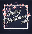 background with merry christmas lettering vector image vector image