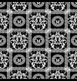 baroque seamless pattern floral black background vector image vector image