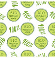 bio green pattern eco seamless background 100 vector image