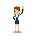 business woman pointing a finger vector image