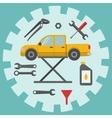 Car repair service icons vector image