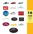 Car shape logo set vector image