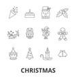 christmas christmas tree christmas card vector image