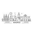 city madrid in outline style on white vector image vector image