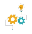 Concept idea with gear wheels and bulb vector image vector image