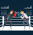 confrontation of businessmen boxers vector image