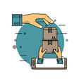 delivery and logistics vector image