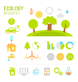 Ecology and organic infographics in flat style vector image vector image