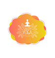 enjoy yoga studio template design element can vector image vector image