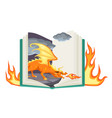 fantasy book open fairy tail with vector image vector image