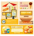 fast food vendor menu poster banner vector image