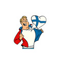 finland patriot man isolated on white background vector image vector image