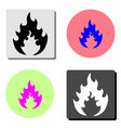 flame flat icon vector image