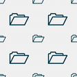 Folder icon sign Seamless pattern with geometric vector image vector image