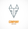 Fox design logo vector image