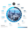 full year business timeline template on circle vector image vector image