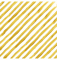 golden watercolor striped background vector image vector image