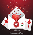 greeting card for Valentines Da vector image vector image