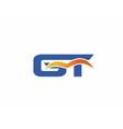 GT letter logo vector image vector image