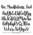hand drawn alphabet calligraphy letters vector image vector image