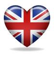 heart shape united kingdom insignia vector image