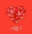 hearts happy valentines day love card flyer vector image vector image