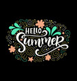 hello summer typography poster print vector image vector image