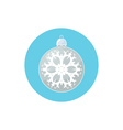 Icon Silver Ball with Snowflake vector image vector image