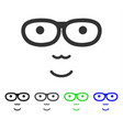 joy nerd face icon vector image