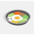 korean dish bibimbap isometric icon vector image vector image