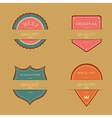 Label Design Set vector image