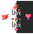 love is love t-shirt poster love tag with a vector image