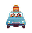 man and woman driving car in front view isolated vector image