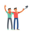 men making selfie vector image vector image
