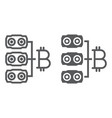 mining hardware line and glyph icon money vector image